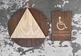 Printable Handicap Bathroom Signs by Ladies U0026 Gents Restroom Bathroom Signs Office Wc Signage