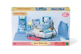 calico critters bathroom set accessories learning education