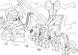 Pinkie Pie Free Coloring Page