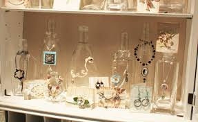 Different Sized Bottles Used To Hang Necklaces More Creative Jewelry Display Ideas
