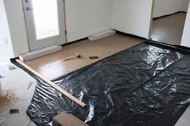 Floating Floor Underlayment Basement by How I Saved Over 700 On Cork Flooring For The Basement