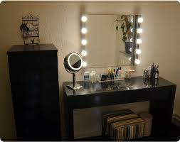 bedroom cool vanity mirror with lights makeup mirror wall by