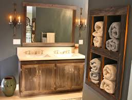 Rustic Bathroom Sinks Unique White Vanity Ideas Floating Style Wall Sconces Above Mirror Single