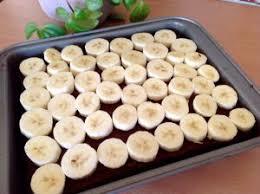 bananen schoko kuchen mit pudding