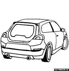Volvo C30 Coloring Page
