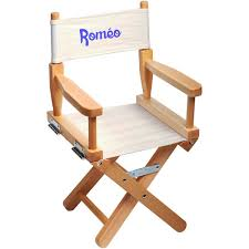 siege metteur en chaise metteur en scène enfant personnalisée naturel ecrue