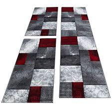 simpex bettumrandung läufer teppich kurzflor kariert muster