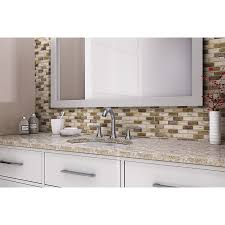 shop elida ceramica melted earth beige subway mosaic glass wall