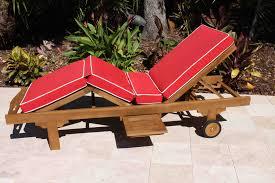 Outdoor Furniture Cushions Sunbrella Fabric by Sale Sunbrella Fabric Deluxe Chaise Lounge Cushion Oceanic Teak