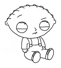 Stewie Is Sad In Family Guy Colouring Page