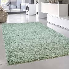 teppich shaggy pastell hochflor langflor einfarbig uni in pastell grün aus polypropylen für wohn schlafzimmer größe in cm 120 x 170 cm