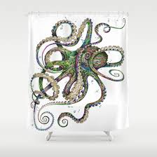 Best Octopus Fabric Shower Curtains