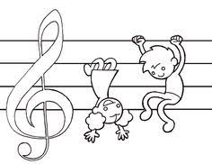 Music Coloring Pages For Kids Reading Piano Teaching Preschool