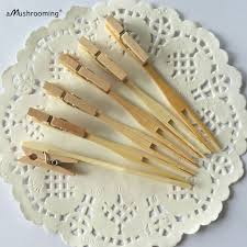 25 Pieces Lot Rustic Wedding Decor Bamboo Fruit Fork With 3cm Wooden Mini
