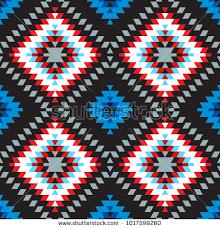 Seamless Pattern Turkish Carpet Pink Blue White Red Gray Colorful Patchwork Mosaic Oriental Kilim Rug