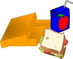 Lunch Box Black And White Clipart