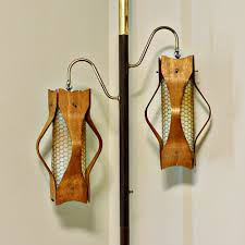 Floor To Ceiling Tension Pole Plant Hangers by Antique Pole Lamps Lighting And Ceiling Fans