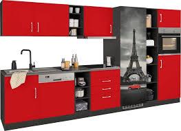 held möbel küchenzeile mit e geräten breite 350 cm mit großer kühl gefrierkombination kaufen otto