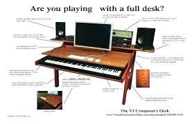 Home Music Studio Desk Desk Best About Brilliant Home