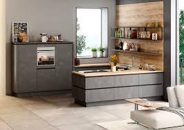 schlichte u küche mit grifflosen fronten in stahl dunkel nachbildung möbelhaus pohl wilhelmshaven friesland möbelhaus pohl möbel