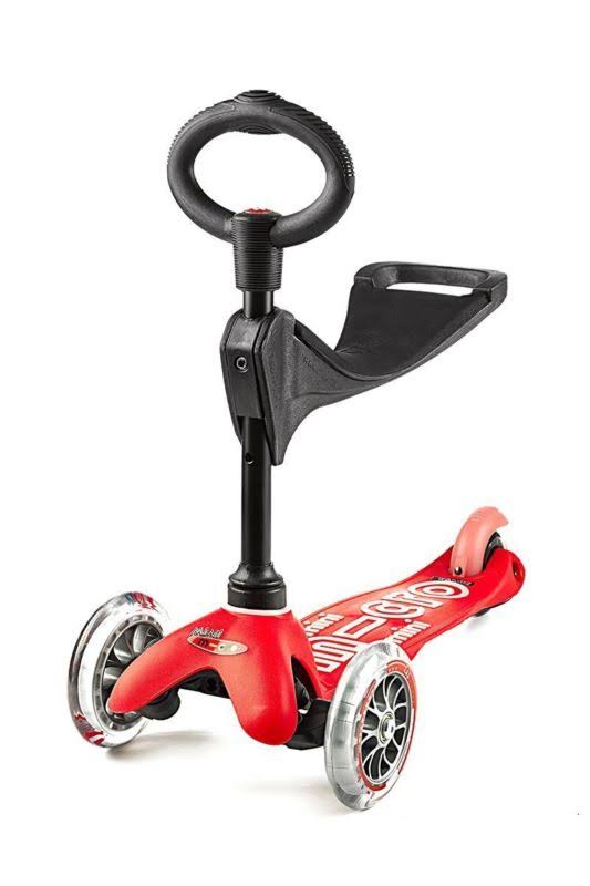 Micro Mini 3 in 1 Deluxe Kick Scooter - Red