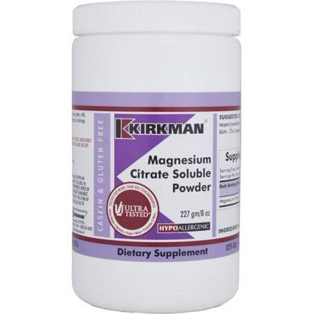 Magnesium Citrate Soluble Powder Supplement - 8oz