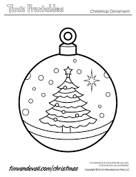 Coloring Pages Printable Paper Christmas Ornament Templates Regarding Ornaments 2017 7001