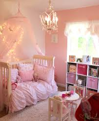Little Girls Room Decorated In Pink White Gold