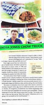 100 India Jones Food Truck Chow