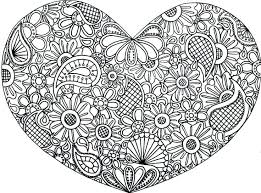 Free Printable Heart Coloring Pages For Adults Valentines