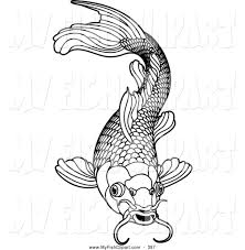 Coloring Pages Koi Fish Inside