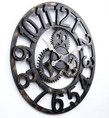 Large Gear Wall Clock Moving Gears Traditional Exposed Inside Best Ideas On