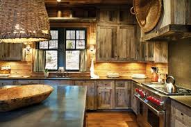Rustic Kitchen Cabinets Fair Design Ideas Peachy L With Black Countertops Large Square
