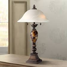 Kathy Ireland Alabaster Glass Mulholland 2 Light Table Lamp
