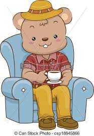 Daddy Bear Coffee Illustration Of An Adult Male Having