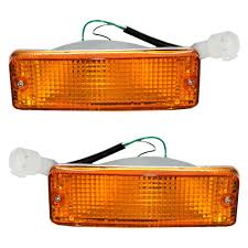 100 Truck Marker Lights Driver And Passenger Park Signal Front Bumper Mounted Lamps Replacement For Toyota Pickup SUV 8152089130 8151089130