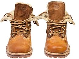 timberland authentics shearling toddler kids brown leather ankle