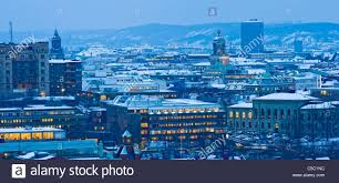 100 Apartments In Gothenburg Sweden Panoramic View Of Snowy Apartments Stock Photo