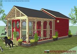8x8 Storage Shed Plans by Shed Plans Building Cb201 Combo Plans Chicken Coop Plans