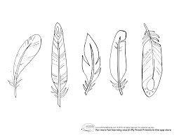 Feather Coloring Page With Wallpapers