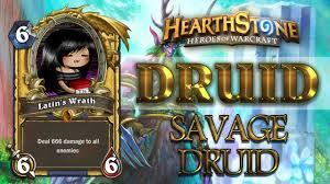 Hearthstone Decks Druid Combo by Hearthstone Druid Deck Savage Druid Youtube