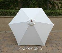 Market Umbrella Replacement Canopy 8 Rib by 9ft Market Umbrella Replacement Canopy 8 Ribs Taupe Canopy Only