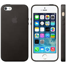 Apple iPhone 5S 5 Leather Case Black