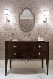 Chandelier Over Bathroom Vanity by Bathroom Ideas Two Wood Framed Bathroom Mirror With Three