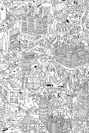 Doodle Coloring Colouring Printable Adult Advanced Detailed Page