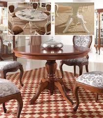 runder tisch ausziehbar kirsche massiv mit säulenfuss