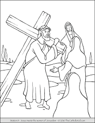 Stations Of The Cross Coloring Pages 8