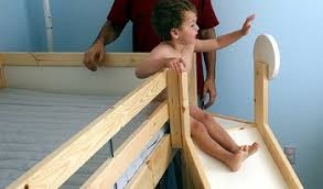 Loft Bed With Slide Ikea by Dadtalk Part Ii Seth U0027s New Bed Slides Into Action