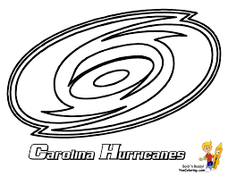 Hurricanes Hockey Coloring For Kids At YesColoring