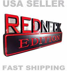 100 Ford Truck Logo REDNECK EDITION Car Truck FORD EMBLEM Logo Decal SUV SIGN Ornament
